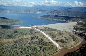 aerial image lake oroville